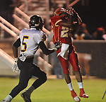 Lafayette High's Jeremiah Jones (26) makes a catch vs. Pontotoc in Oxford, Miss. on Friday, September 23, 2011. Lafayette won 48-7 for the school's 22nd consecutive win.