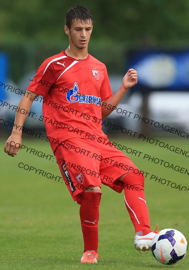 Fudbal season 2013-2014<br /> FK Crvena Zvezda pripreme<br /> Prijateljski mec<br /> Crvena Zvezda v Verzej<br /> Dusan Zivkovic<br /> Brezice, 07.09.2014.<br /> foto: Srdjan Stevanovic/Starsportphoto &copy;