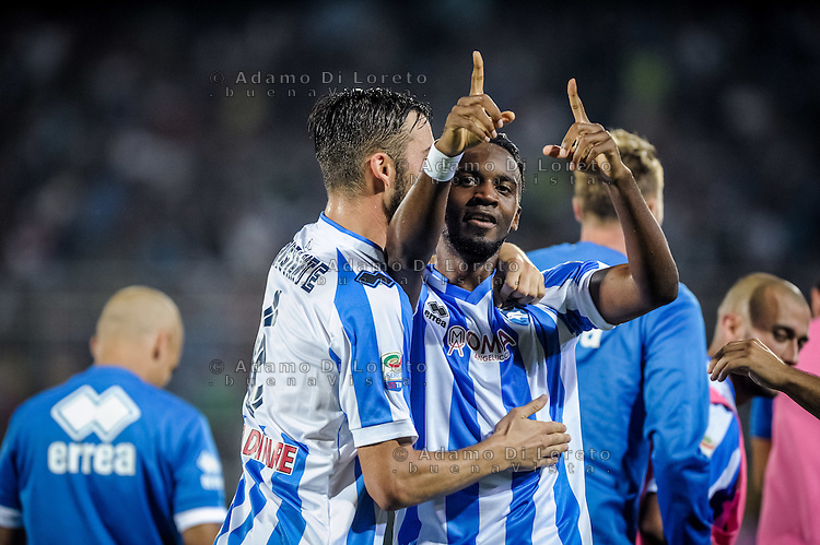 Bahebeck Jean after the goal  (Pescara) during the Italian Serie A football match Pescara vs SSC Inter on September 11, 2016, in Pescara, Italy. Photo by Adamo DI LORETO