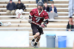 14 February 2015: UMass's Gianni Bianchin. The University of North Carolina Tar Heels hosted the University of Massachusetts Minutemen in a 2015 NCAA Division I Men's Lacrosse match. UNC won the game 20-8.