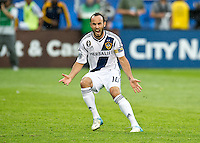 CARSON, CA - December 1, 2012: LA Galaxy forward Landon Donovan (10) celebrating his goal during the LA Galaxy vs the Houston Dynamo for the 2012 MLS Cup at the Home Depot Center in Carson, California. Final score LA Galaxy 3, Houston Dynamo 1.