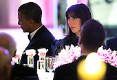 U.S. President Barack Obama (L) hosts British Prime Minister David Cameron and his wife Samantha Cameron (R) for a state dinner at the South Lawn of the White House March 14, 2012 in Washington, DC. Prime Minister Cameron was on a three-day visit in the U.S. and he had talks with President Obama earlier the day.  .Credit: Alex Wong / Pool via CNP