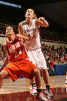 17 March 2007: Kristen Newlin during Stanford's 96-58 win over Idaho State in the first round of the NCAA women's basketball tournament at Maples Pavilion in Stanford, CA.