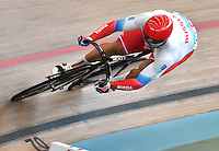 CALI – COLOMBIA – 19-02-2017: Denis Dmitriev de Rusia en la prueba de 200 metros Velocidad hombres en el Velodromo Alcides Nieto Patiño, sede de la III Valida de la Copa Mundo UCI de Pista de Cali 2017. / Denis Dmitriev from Russia in the 200 meters Men´s Sprint Race at the Alcides Nieto Patiño Velodrome, home of the III Valid of the World Cup UCI de Cali Track 2017. Photo: VizzorImage / Luis Ramirez / Staff.
