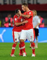 Fussball International  WM Qualifikation 2014   11.09.2012 Oesterreich - Deutschland Zlatko Junuzovic und Marko Arnautovic (v. li., Oesterreich)