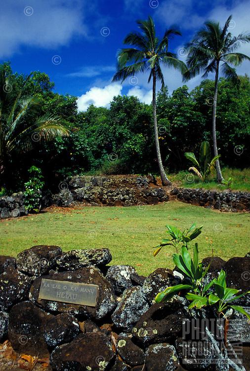 Ka Lae O Ka Manu Heiau, Wailua, Kauai