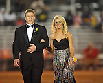 Sophomore maid Jacey Johnson (right) with escort Matthew Norwood at Lafayette High vs. Tunica Rosa Fort in Oxford, Miss. on Friday, October 5, 2012. Lafayette High won 35-6.
