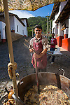 Cooking chicharon, San Sebastian del Oeste, Mining town near Puerto Vallarta, Jalisco, Mexico