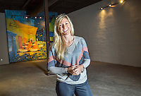 NWA Democrat-Gazette/JASON IVESTER --04/22/2015--<br /> April Seggebruch, co-founder of Movista; photographed on Wednesday, April 22, 2015, inside The Icehouse in downtown Bentonville for nwprofiles<br /> ***PREFERRED LEAD PHOTO***