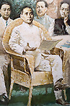 Sun Yat-sen painting at a museum in Shanghai, China