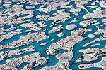 Ice formations on the Koettlitz Glacier. McMurdo Ice Shelf. Antarctica.