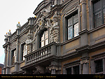 Bishop's Palace Caryatids and Baroque Facade Detail, Burg Square, Bruges, Brugge, Belgium