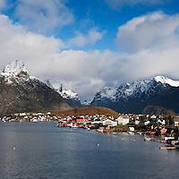 Scenic village of Reine in autumn, Lofoten islands, Norway