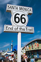Route 66, End of the Trail sign, Santa Monica, Pier, Pacific Park