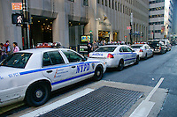 NYPD protects banks during the Occupy Wall Street Protest in New York City October 6, 2011.