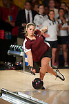 14 APR 2012: T'nia Falbo of University of Maryland Eastern Shore bowls during the Division I Womens Bowling Championship held at Freeway Lanes in Wickliffe, OH.  The University of Maryland Eastern Shore defeated Fairleigh Dickinson 4-2 to win the national title.  Jason Miller/NCAA Photos