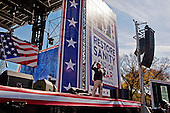 October 30, 2010<br /> Washington DC<br /> District of Columbia<br /> <br /> Comedians Jon Stewart and Stephen Colbert entertained a huge crowd at the &quot;Rally to Restore Sanity&quot; and &quot;Keep Fear Alive&quot; to poking fun at the nation's ill-tempered politics, fear-mongers and doomsayers.<br /> <br /> Part comedy show, part pep talk, the rally drew together tens of thousands stretched across an expanse of the National Mall, a festive congregation of the goofy and the politically disenchanted.