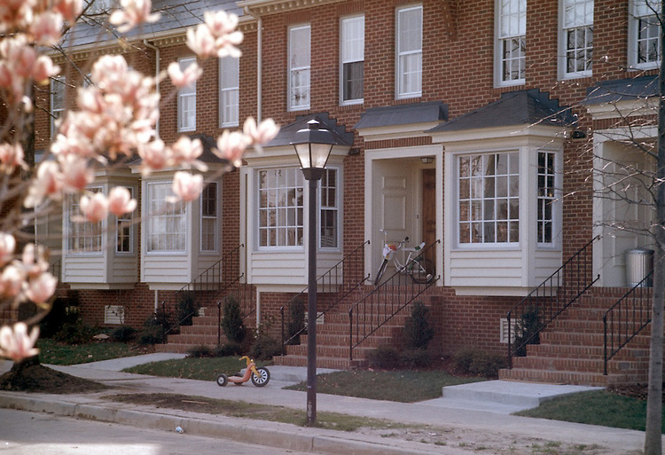 1977 March ..Redevelopment.East Ghent..TOWNHOUSES ON BOTETOURT GARDENS...NEG#.NRHA#..