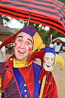 The Renaissance Fair is held each September at the historic museum of El Rancho de Las Golondrinas near Santa Fe and features dancers, kinghts, acrobats and many other performers all celebrating the culture and life style of the Medieval Middle Ages.  Elijah Whippo is a juggler, magican, acrobat and all around leader of Clan Tynker which is a famiily troup of performers. Juggl;er and acrobat Elijah Whippo is the leader of Clan Tynker.