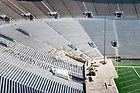 March 8, 2017; Construction work on a new visitors tunnel at Notre Dame Stadium (Photo by Matt Cashore/University of Notre Dame)