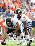 30 September 2006: Virginia quarterback Jameel Sewell. The Duke University Blue Devils lost 37-0 to the University of Virginia Cavaliers at Wallace Wade Stadium in Durham, North Carolina in an Atlantic Coast Conference NCAA Division I College Football game.