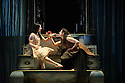 London, UK. 25.03.2016. balletLORENT presents SNOW WHITE, as part of the Family Weekend, at Sadler's Wells. Artistic Director, Liv Lorent (MBE), directs and choreographs. Set design is by Phil Eddols, with lighting design by Malcolm Rippeth, and costume design by Libby Everall. balletLORENT's 11 professional dancers are joined by a cast of 12 local children from Vittoria Primary School in the Islington Borough, aged 6 - 9 years old. Picture shows: Natalie Trewinnard (Snow White), Caroline Reece (Queen). Photograph © Jane Hobson.