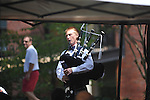 A man plays bagpipes in the Grove at  in Oxford, Miss. on Saturday, September 1, 2012.