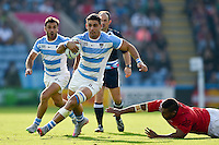 Pablo Matera of Argentina goes on the attack. Rugby World Cup Pool C match between Argentina and Tonga on October 4, 2015 at Leicester City Stadium in Leicester, England. Photo by: Patrick Khachfe / Onside Images