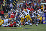 LSU running back Jeremy Hill (33) runs at Tiger Stadium in Baton Rouge, La. on Saturday, November 17, 2012.....