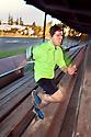 PE00257-00...WASHINGTON - Pierce Prohovost jogging in Edmonds. (MR# P9)