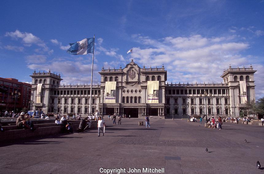 The National Palace or Palacio Nacional on the Plaza Mayor in Guatemala City, Guatemala