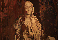 Lamentation, detail, painting, 1510-25, by an unknown Flemish artist, from the altarpiece of the Mosteiro de Celas, in the Museu Nacional de Machado de Castro, Coimbra, Portugal. The free market for artwork in Bruges and Antwerp encouraged the production of en masse quality painting. The museum was opened in 1913 and renovated 2004-2012. The city of Coimbra dates back to Roman times and was the capital of Portugal from 1131 to 1255. Its historic buildings are listed as a UNESCO World Heritage Site. Picture by Manuel Cohen