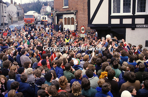 Shrove Tuesday traditional Football game. Ashbourne Derbyshire England