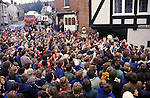 ASHBOURNE DERBYSHIRE SHROVE TUESDAY FOOTBALL UK