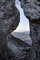 A narrow pass at Jiankou Great Wall.