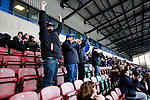 Liverpool Ladies 2 Everton Ladies 1, 19/03/2017. Select Security Stadium, SSE FA Cup Fifth Round. Celebrations from Everton fans as Simone Magill scores the equalising goal during the game between Liverpool Ladies v Everton Ladies at The Select Security Stadium, Widnes, in the Women's SSE FA Cup Fifth Round. Photo by Paul Thompson.