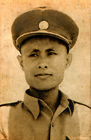 General Aung San, father of opposition leader Aung San Suu Kyi, and the architect of Burma's independence and founder of the Burmese army. In 1947, he was assassinated along with most of his cabinet just before independence. This photograph dates from between 1945 and 1947.