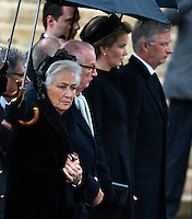 Funerals of the Queen Fabiola of Belgium at the Saints Michel & Gudule Cathedral in Brussels