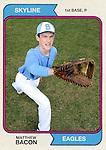 6-5-15, Skyline High School vintage 1974 Topps baseball cards
