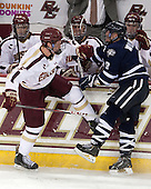 Michael Matheson (BC - 5), Matt Willows (UNH - 9) (Smith, Whitney, Sit) - The Boston College Eagles and University of New Hampshire Wildcats tied 4-4 on Sunday, February 17, 2013, at Kelley Rink in Conte Forum in Chestnut Hill, Massachusetts.