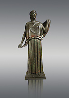 Roman Bronze sculpture of a Dancing Women from the square peristyle of the Villa of the Papyri in Herculaneum, Museum of Archaeology, Italy