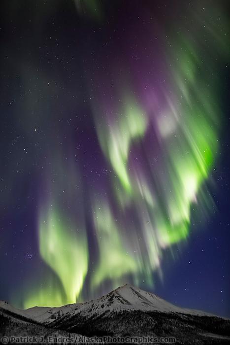 Northern lights over the Brooks Range, Alaska.