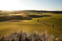 #14 Green with Pin Setters (greens keepers), Bandon Dunes Golf Resort, Bandon Oregon