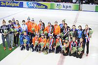 SHORTTRACK: AMSTERDAM: Jaap Edenhal, 04-01-2015, KPN NK Shorttrack, Prijswinnaars, ©foto Martin de Jong
