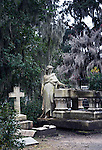 Bonaventure Cemetery is a public cemetery in Savannah famous for its beautifully appointed tombs adorned with angelic sculptures, and its conspicuous live oaks drapped with hanging moss.