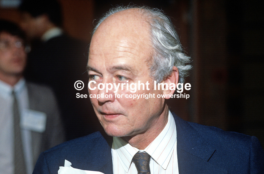 David Waddington, MP, Conservative Party, UK, junior minister, Home Office, 19840148DW1..Copyright Image from Victor Patterson, 54 Dorchester Park, Belfast, UK, BT9 6RJ..Tel: +44 28 9066 1296.Mob: +44 7802 353836.Voicemail +44 20 8816 7153.Skype: victorpattersonbelfast.Email: victorpatterson@me.com.Email: victorpatterson@ireland.com (back-up)..IMPORTANT: If you wish to use this image or any other of my images please go to www.victorpatterson.com and click on the Terms & Conditions. Then contact me by email or phone with the reference number(s) of the image(s) concerned.