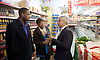 Sadiq Khan <br /> Labour mayor of London candidate and Chuka  Umunna MP for Brixton &amp; Streatham walk around Brixton canvassing locals to support Labour in the forthcoming 5th May election.<br /> <br /> Sadiq Khan <br /> visits a local Chinese Supermarket <br /> <br /> Photograph by Elliott Franks <br /> Image licensed to Elliott Franks Photography Services
