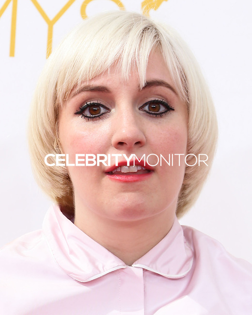 LOS ANGELES, CA, USA - AUGUST 25: Actress Lena Dunham arrives at the 66th Annual Primetime Emmy Awards held at Nokia Theatre L.A. Live on August 25, 2014 in Los Angeles, California, United States. (Photo by Celebrity Monitor)