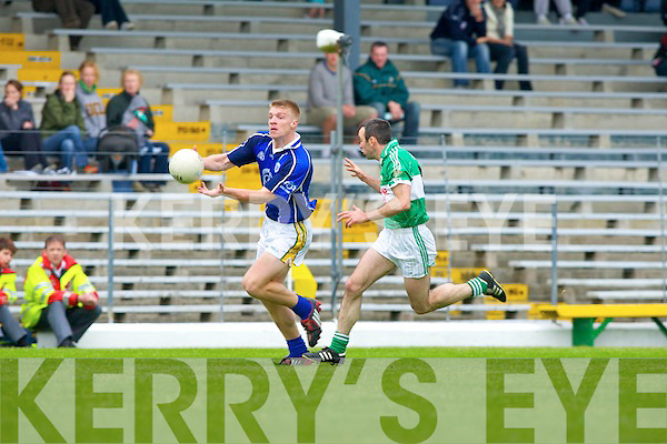 AIB COUNTY SENIOR FOOTBALL CHAMPIONSHIP.LEGION 1-6 KERINS O'RAHILLYS 4-10.Kerins O'Rahillys sprinted out of the blocks while Legion.failed to hear starter's orders and were lapped before they.even got going. They made a number of positional switches.from the programme but in truth they were always holding a.losing hand no matter how much they shuffled the deck.