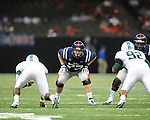 Ole Miss offensive lineman Patrick Junen (77) vs. Tulane in the first half at the Mercedes-Benz Superdone in New Orleans, La. on Saturday, September 22, 2012. Ole Miss won 39-0...